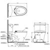 Bàn cầu 2 khối TOTO CS767E2, Nắp Rửa Eco-washer