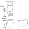 Bàn cầu điện tử CW992VA/TCF992WA (AC-220V)