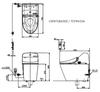 Bàn cầu điện tử Toto  C971/TCF9433A