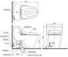 Bàn cầu 1 khối TOTO MS636CDW12, nắp điện tử