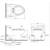 Bàn cầu 1 khối TOTO MS688E2, nắp rửa cơ