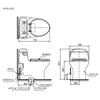 Bàn cầu một khối TOTO MS914E2 (MS914RE2), nắp rửa cơ