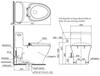 Bàn cầu một khối TOTO MS887W6, nắp rửa điện tử