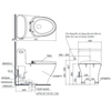 Bàn cầu một khối TOTO MS887W11 (MS887RW11), nắp rửa điện tử