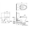Bàn cầu một khối TOTO MS889DW6 (MS889DRW6), nắp rửa điện tử