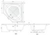 Bồn tắm nhựa góc TOTOPAY1300PE#W/DB505R-2B