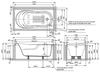Bồn tắm TOTOPAY1570D#W/DB501R-2B/TVBF412