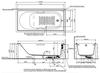 Bồn tắm TOTOPAY1710V/TBVF411