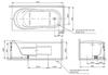 Bồn tắm TOTOPAY1775VC#W/DB501R-2B/TVBF412