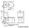 Bồn cầu 2 khối INAX C-306VA nắp rửa cơ
