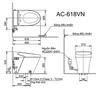Bồn cầu cảm ứng INAX AC-618VN