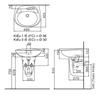 Chậu rửalavabo INAX L-284V/L-284VC chân ngắn treo tường