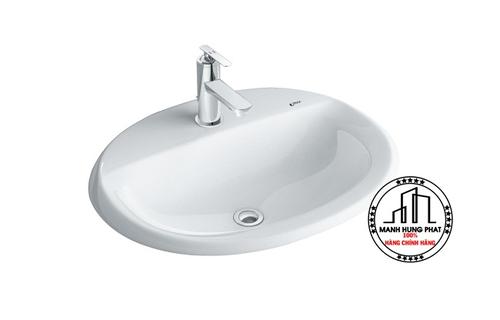Chậu rửa lavabo INAX L-2395V âm bàn dương vành