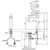 Vòi chậu lavabo TOTO TLG01304V nóng lạnh cổ cao