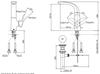 Vòi chậu lavabo TOTO TLG01309B nóng lạnh cổ cao