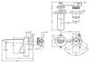 Vòi chậu lavabo TOTO TLG04309B nóng lạnh gắn tường