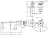 Vòi chậu lavabo TOTO TLG04310B nóng lạnh gắn tường