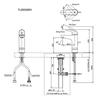Vòi chậu lavabo TOTO TLS03305V nóng lạnh cổ cao