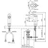 Vòi chậu lavabo TOTO TLS04304V nóng lạnh cổ cao