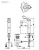 Vòi chậu lavabo TOTOTTLR301FV-1 nóng lạnh