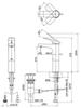 Vòi chậu lavabo TOTOTTLR302FV-1 nóng lạnh