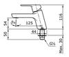 Vòi chậu lavabo TOTOTX109LU lạnh