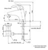 Vòi chậu lavabo TOTOTX115LFBR nóng lạnh