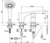 Vòi xả bồn TOTO TBG01305B nóng lạnh 3 lỗ