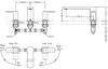 Vòi xả bồn TOTO TBG02201B nóng lạnh 3 lỗ