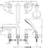 Vòi xả bồn TOTO TBG02202B nóng lạnh 4 lỗ