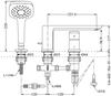 Vòi xả bồn đặt sàn TOTO TBG02305B nóng lạnh 3 lỗ