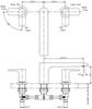 Vòi xả bồn TOTO TBG04201B nóng lạnh GA 3 lỗ