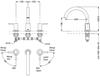 Vòi xả bồn TOTO TBS01201B nóng lạnh LB 3 lỗ