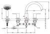 Vòi xả bồn TOTO TBS01202B nóng lạnh LB 4 lỗ