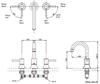Vòi xả bồn TOTO TBS02201B nóng lạnh LN 3 lỗ