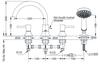 Vòi xả bồn TOTO TBS02202B nóng lạnh LN 4 lỗ