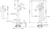 Vòi xả bồn đặt sàn TOTO TBG02306B/TBN01105B kèm sen tắm