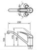 Vòi bếp INAX SFV-112S nóng lạnh