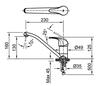 Vòi bếp INAX SFV-302S nóng lạnh