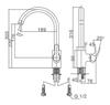Vòi bếp INAX SFV-802S nóng lạnh