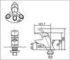 Vòi chậu lavabo INAX LFV-102S nóng lạnh