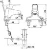 Vòi chậu lavabo INAX LFV-281S nóng lạnh 3 lỗ