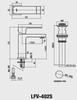 Vòi chậu lavabo INAX LFV-402S nóng lạnh