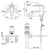 Vòi chậu lavabo  INAX LFV-1101S-1 nóng lạnh 3 lỗ