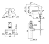 Vòi chậu lavabo INAX LFV-1201S-1 nóng lạnh 3 lỗ