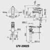 Vòi chậu lavabo INAX LFV-2002S nóng lạnh