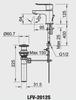 Vòi chậu lavabo INAX LFV-2012S nóng lạnh
