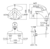 Vòi chậu lavabo INAX LFV-3001S nóng lạnh 3 lỗ