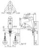 Vòi chậu lavabo INAX LFV-5102S nóng lạnh