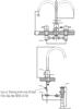 Vòi chậu lavabo INAX LFV-7000B van nóng lạnh 3 lỗ